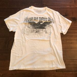 💙 NWOT AMERICAN EAGLE WHITE T-SHIRT SIZE XL